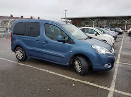 Citroen Berlingo Multispace, 2014 (64) Blue MPV, Semi auto Diesel, 25,000 miles