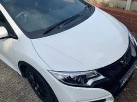Honda Civic, 2016 (65) White Hatchback, Manual Diesel, 28,000 miles