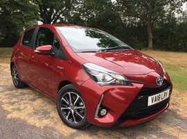 Toyota Yaris, 2018 (18) red hatchback, Cvt Hybrid, 6000 miles