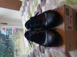 School shoes, black. Clarks.