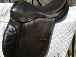 """Pony saddle: 16"""", GP, havana, leather"""