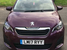 Peugeot 108, 2017 (17) Purple Hatchback, Manual Petrol, 28,000 miles
