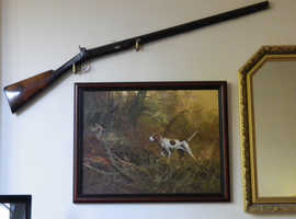 Vintage Hunting Scene. Oil Painting by Eugene Kingsman (American 1909 to 1975), Signed