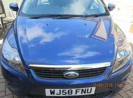 Ford Focus Zetec, 2008(58) Blue Hatchback, Manual 1.8L Diesel, 90,200 miles