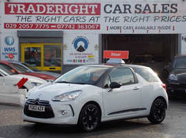 Citroen Ds3, 2013 (63) White Hatchback, Manual Diesel, 34,461 miles