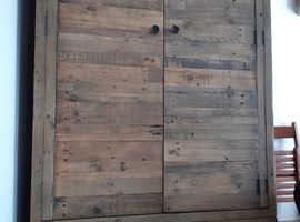 Good quality reclaimed wood wardrobe