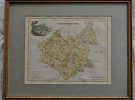 Antique Map of Leicestershire 1840s