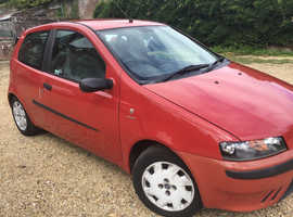 Fiat Punto, 2002 (02) Red Hatchback, Manual Petrol, 112,700 miles