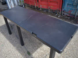 Used Plastic Center Folding Table