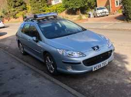 Peugeot 407, 2005 (55) Silver Estate, Manual Diesel, 164,000 miles
