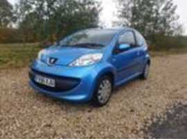 Peugeot 107, 2006 (56) Blue Hatchback, Manual Petrol, 69,278 miles