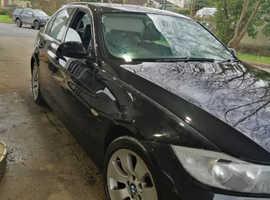 BMW 3 Series, 2006 (06) Black Saloon, Automatic Petrol, 116,000 miles