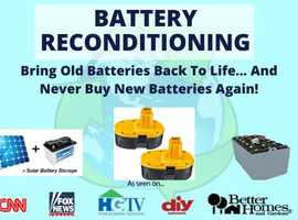 Battery reconditioning Course. Never Buy New Batteries Again!