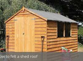 Renew SHED ROOFS or REPAIR
