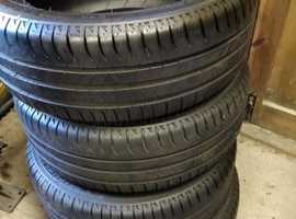 Set of four Michelin  195/55/R16 tyres