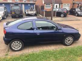 Renault Megane, 2002 (02) Blue Coupe, Manual Petrol, 107,000 miles was a Project nice cheap car