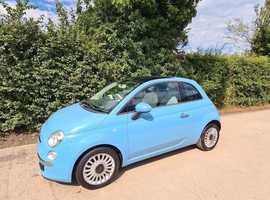 Fiat 500, 2011 (61) Blue Hatchback, Manual Petrol, 109,000 miles