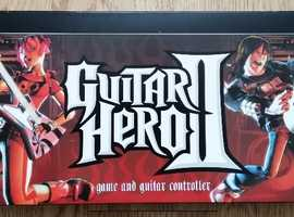 PlayStation 2 Guitar Hero II Guitar and Game Disc Boxed with Instructions PS2