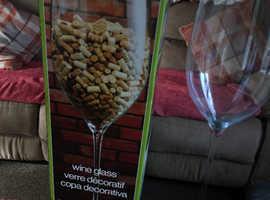 Enormous wine glass