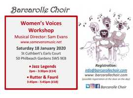 Barcarolle Choir Workshop for Women's Voices