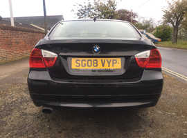 BMW 3 Series, 2008 (08) Black Saloon, Manual Diesel, 133,401 miles