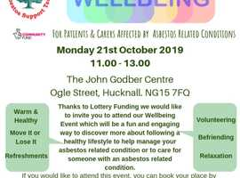 Wellbeing Event for Those Affected By Asbestos & Their Carers