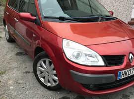Renault Megane Scenic, 2007 (07) Red MPV, Manual Diesel, 107,000 miles