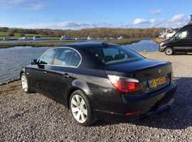 BMW (530D)  5 Series, 54 plate Black Saloon, Automatic Diesel, long MOT great condition for year.