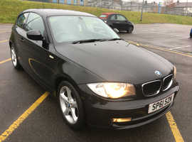 BMW 1 series, 2011 (61) Black Hatchback, Manual Diesel, 87,000 miles