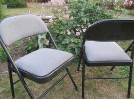Pair of folding 'meeting' chairs