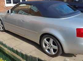 Audi A4, 2003 (53) Silver Convertible, Manual Petrol, 100,000 miles