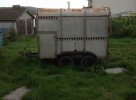 Live stock trailer, old Ivor Williams twin wheels breaked
