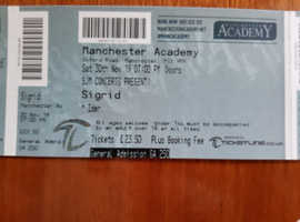 3 x Sigrid Tickets, Manchester Academy,  Saturday 30th November