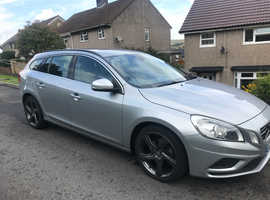 Volvo V60,2.0td r design 163bhp 2011 (60) Silver Estate, Manual Diesel, 97,000 miles