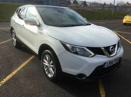 Nissan Qashqai, 2014 (14) White Hatchback, Manual Diesel, 126,000 miles