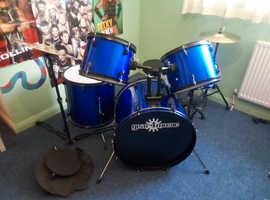 Full size drum kit -Blue
