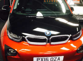 BMW I3, 2016 (16) orange hatchback, Automatic Petrol, 18000 miles