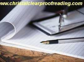 National Proofreading Services, from £9. University, Business and Student Services based