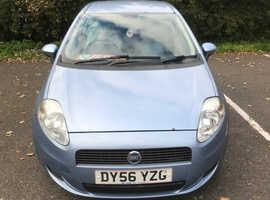 Fiat Grande Punto, 2006 (56) Blue Hatchback, Manual Diesel, 129,489 miles