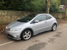 Honda Civic, 2007 (07) Silver Hatchback, Manual Petrol, 105,000 miles