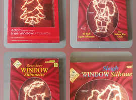 Xmas light up window displays x 5