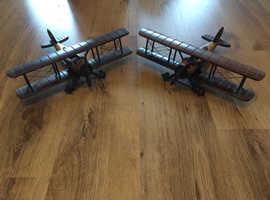 Model Wooden Bi-Planes