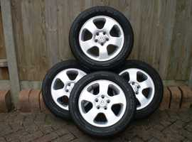 Genuine set VW  Alloys only used in Summer on Polo