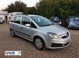 Vauxhall Zafira 5 Door 7 Seater MPV, 1.9 Litre Diesel, New MOT, Full History, Recent Cambelt.