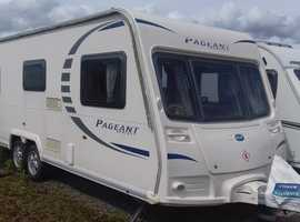2009 MODEL TWIN AXLE FIXED BED 4 BERTH BAILEY PAGEANT LIMOUSIN. AWNING. END BATHROOM / SHOWER. £7995