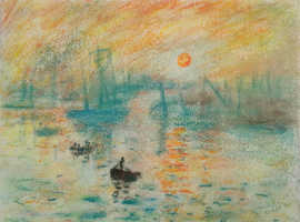 Original Pastel - Sunset over the Bay by D. Lee