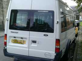 Ford Transit 2006, 9 Seater Minibus, Long Wheel Base LWB, 2.5 Diesel, With Electric Wheelchair Lift