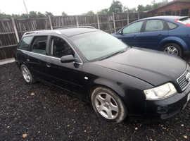 Audi A6, 2004 (04) Black Estate, Manual Diesel, 155,000 miles