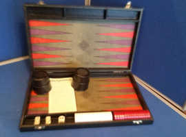Back gammon game in black case from dobson and Robinson ba