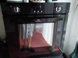 Cabinet type fan oven Black